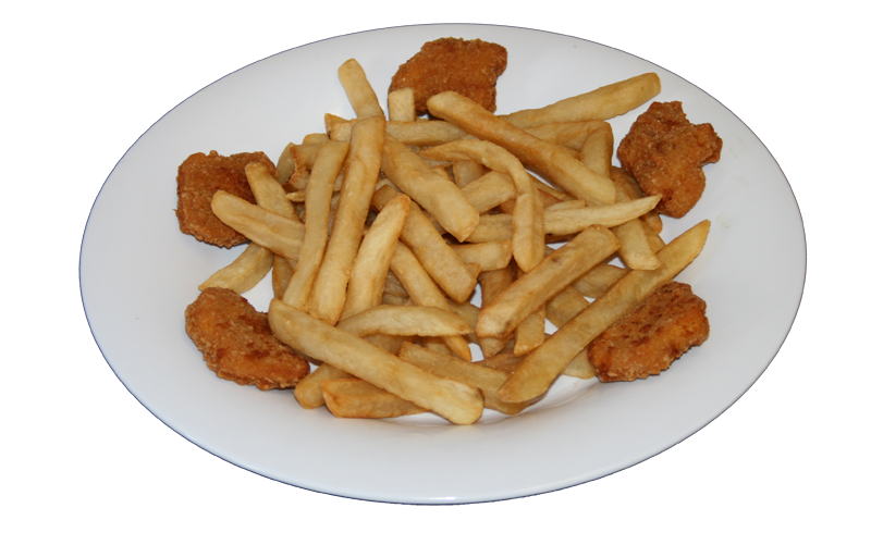 Nuggets de Pollo, Papas Fritas y Soda