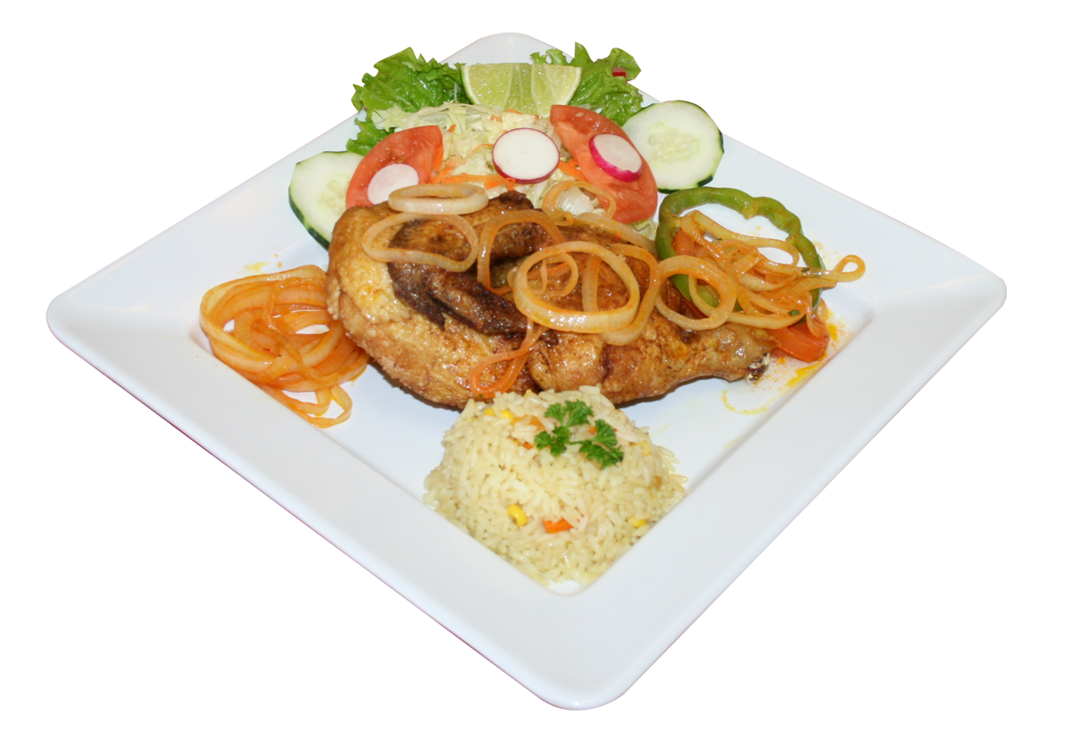 Medio Pollo Encebollado - Click Image to Close